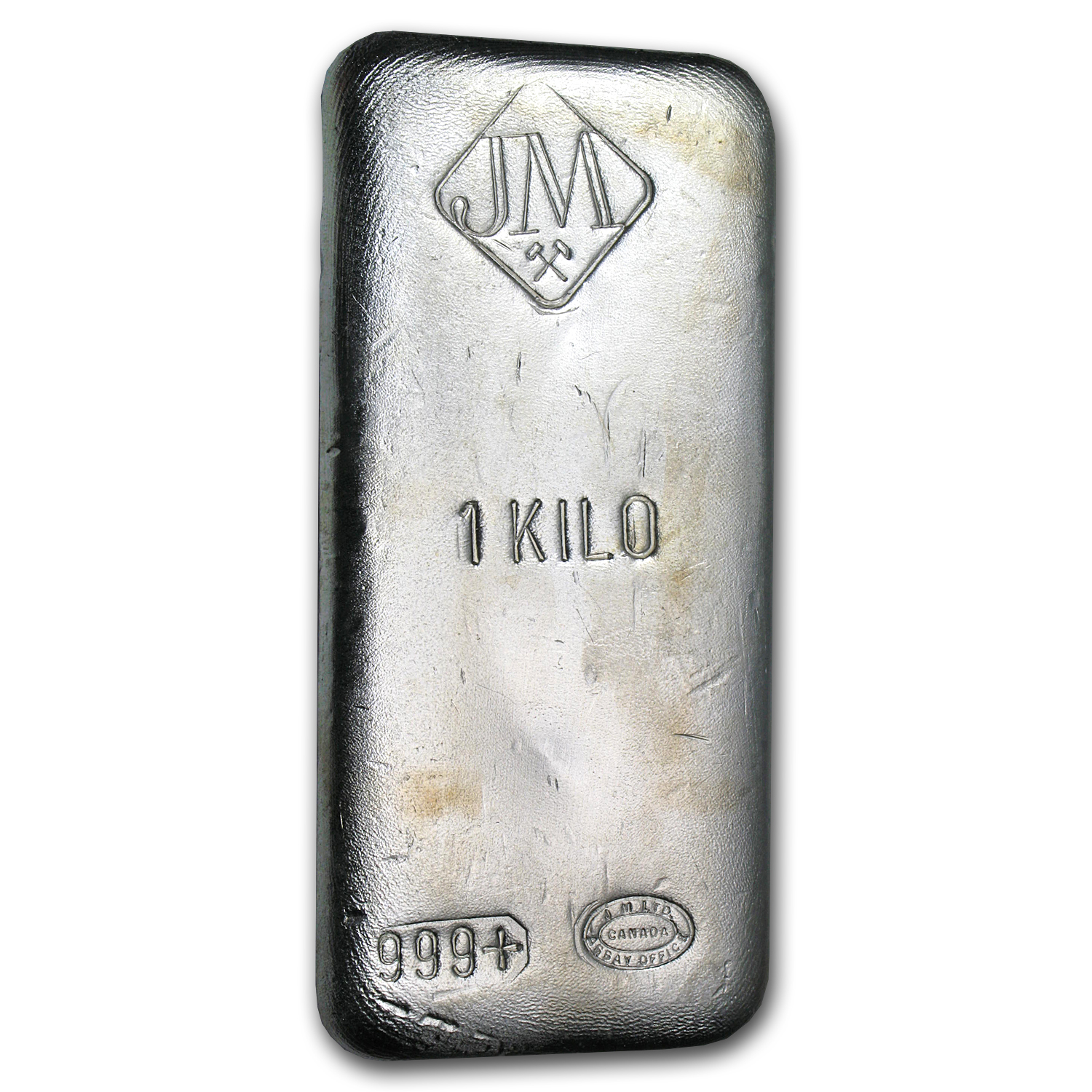 1 kilo Silver Bar - Johnson Matthey (Canada, No Serial #)